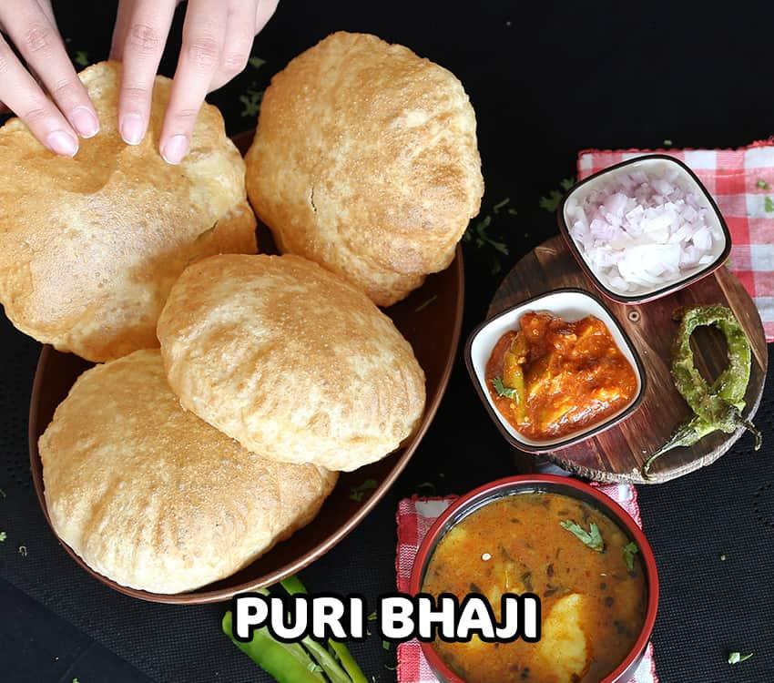Puri Bhaji - 850 x 750